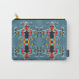 dark blue floral pool Carry-All Pouch
