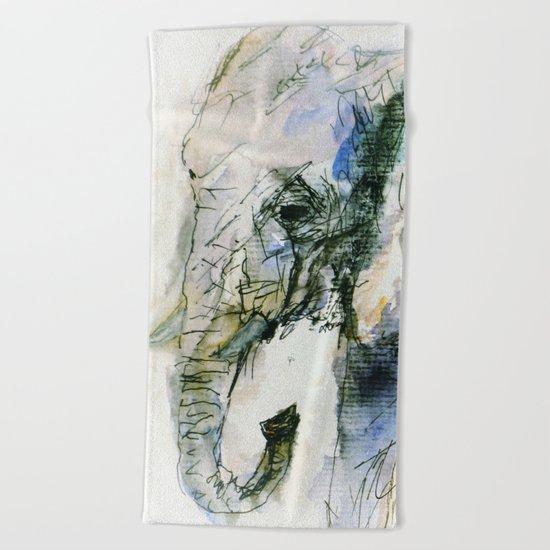 Elephant Queen Beach Towel