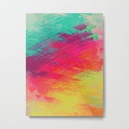 spectrum faux paint displacement Metal Print