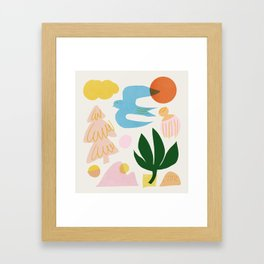 Abstraction_Nature_Beautiful_Day Framed Art Print
