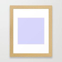 Simply Periwinkle Purple Framed Art Print
