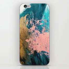 Coral Reef [1]: colorful abstract in blue, teal, gold, and pink iPhone Skin
