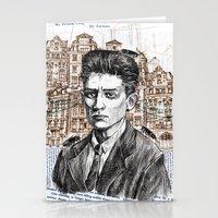 kafka Stationery Cards featuring Kafka by Nina Palumbo Illustration