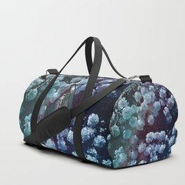 Love Finger Snap Space Floral Duffle Bag