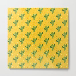Mexican Party Neck Gator Cactus Fiesta Metal Print