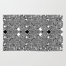 Abstract black and white background Rug