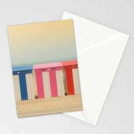 Beach cabins Malo Stationery Cards