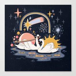 Cosmic lovers Canvas Print