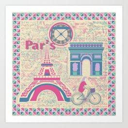Parisian Holiday Collection Art Print