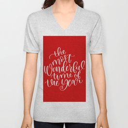 The Most Wonderful Time of the Year Unisex V-Neck