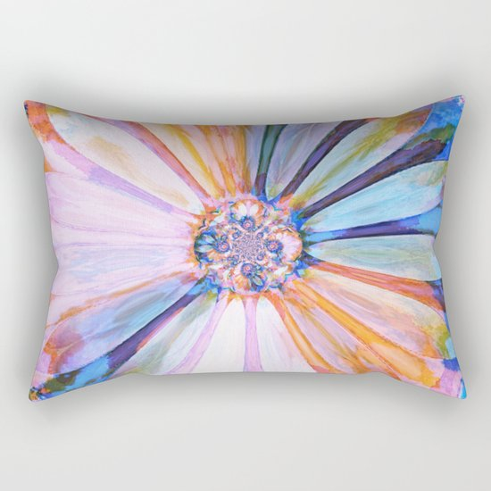 Abstract Colorful Daisy Twilight Rectangular Pillow