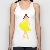 belle Tank Tops featuring Belle by Eva Duplan Illustrations