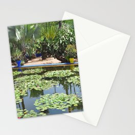 majorelle lily pond Stationery Cards