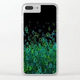 Binary Cloud Clear iPhone Case