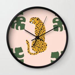 wild leopard  Wall Clock