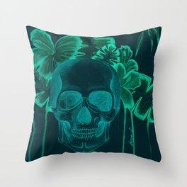 Skull jungle Throw Pillow