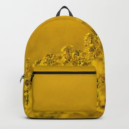 Bright yellow rapeseed blossoms & field - rural landscape photograph Backpack