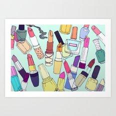 The make-up enthusiast Art Print