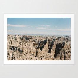 Badlands (35mm Film) Art Print