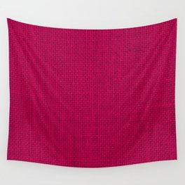 Natural Woven Hot Pink Burlap Sack Cloth Wall Tapestry