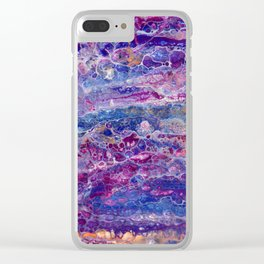 Psycho - Stream of Consciousness in Lively Color Flow by annmariescreations Clear iPhone Case