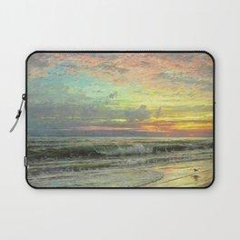 Coastal Newport, Rhode Island Landscape Painting by William Trost Richards Laptop Sleeve