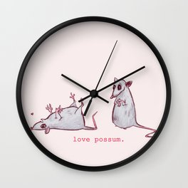 Love Possum Wall Clock