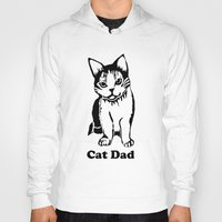 dad Hoodies featuring Cat Dad by Artist Abigail