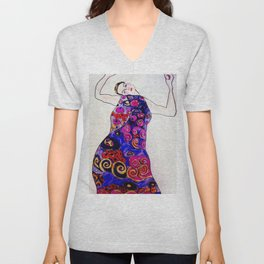 The Embrace Reimagined By James Thomas Ryan Unisex V-Neck