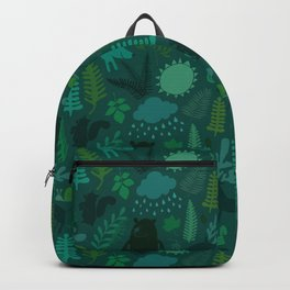 PNW Forest in Emerald Green Backpack