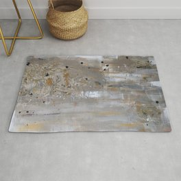Silver and Gold Abstract Rug