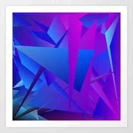 Rhapsody in Blue 5 Art Print