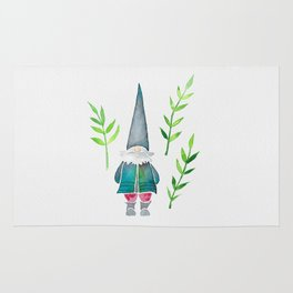 Summer Gnome - Green Leaves Rug