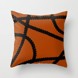 White Ropes Throw Pillow