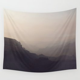 Smoky Hazy Sunset in the Grand Canyon Wall Tapestry