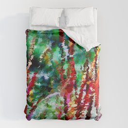 Autumn Grasses Abstract Comforters