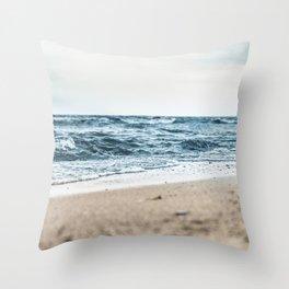 Sandy Waves Throw Pillow