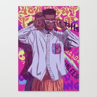 90s Canvas Prints featuring 80/90s - GW by Mike Wrobel