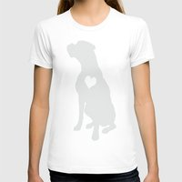 boxer T-shirts featuring Boxer by Clara Hollins
