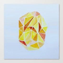cuarzo amarillo Canvas Print