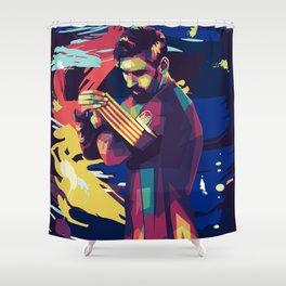 Lionel on WPAP Pop Art Portrait Shower Curtain
