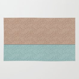 Combo beige turquoise abstract pattern . Rug