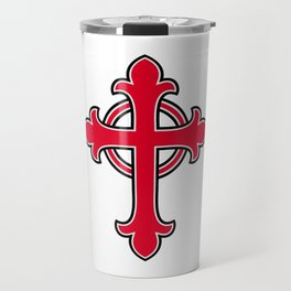 Red Christian cross Travel Mug