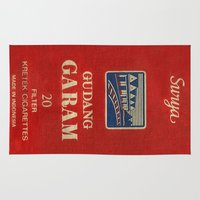 cigarette Area & Throw Rugs featuring Surya - Vintage Cigarette by Fernando Vieira