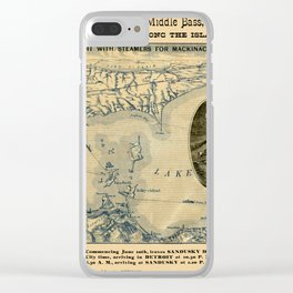 Map Of Lake Erie 1876 Clear iPhone Case