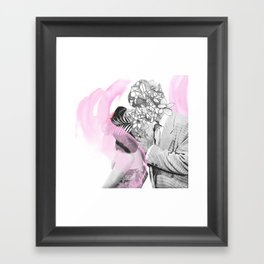 A kiss is a kiss Framed Art Print