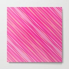 Pink, Pink, Pink Pattern Metal Print
