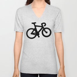 Black Bikes Pattern Unisex V-Neck