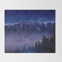 The Mountain's Dream Throw Blanket