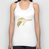 banana Tank Tops featuring Banana Gun by Enkel Dika